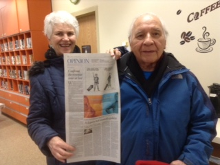Constance & Larry with op ed piece